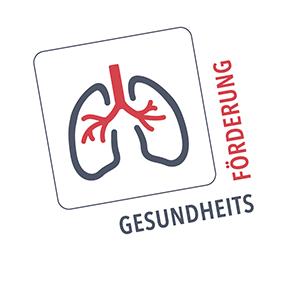 Gesundheitsförderung: Ikonographische Darstellung einer menschlichen Lunge
